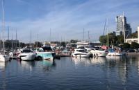 Słoneczna niedziela w marinie w Gdyni