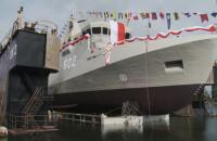 Wodowanie niszczyciela min ORP Albatros