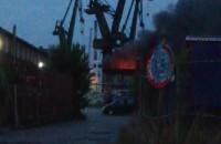 Ogień na terenie stoczni w Gdańsku