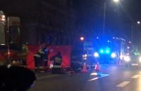 Wypadek motocyklisty na Trakcie św. Wojciecha