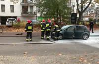 Płonął samochód na Armii Krajowej w Sopocie