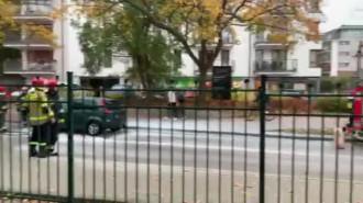 Zapaliło się auto w Sopocie na Armii Krajowej