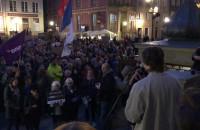 Manifestacja przeciwko ustawie o pedofilii