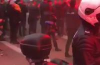 Kibice Lechii odpalili race na ulicy