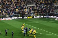 Kibice Arki dziękują piłkarzom za walkę