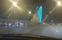 Korek na wiadukcie przy stadionie w kierunku tunelu pod Martwą Wisłą