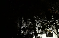 Pożar pustostanu na Jesionowej we Wrzeszczu