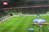 Hymn Polski na meczu Lechia - Pogoń