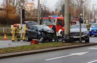 Wypadek na węźle Cegielskiej w Gdyni