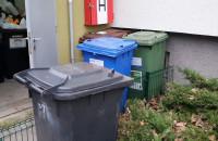 Gdynia: wystawione pojemniki i nieodebrane w nowym roku śmieci