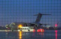 Amerykański C-17 na lotnisku w Gdańsku