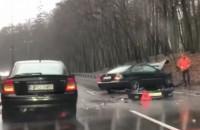 Wypadek na leśnym odcinku ul. Słowackiego
