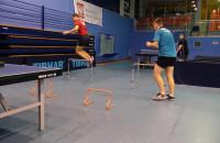 Trening fizyczny tenisistów stołowych