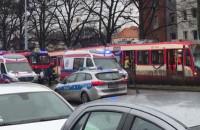 Wykolejony tramwaj na Kartuskiej