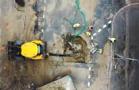 Usuwanie skutków awarii wodociągu w Gdańsku