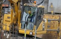 Budowa estakady nad al. Grunwaldzką we Wrzeszczu
