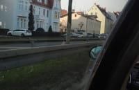 Pożar samochodu na ul. Grunwaldzkiej w Oliwie