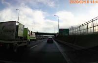 Wypadek na zjeździe z obwodnicy na Straszyn