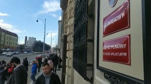 Ewakuacja budynku sądu przy Nowych Ogrodach w Gdańsku