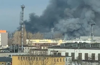 W porcie w Gdyni pali się magazyn