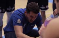 Trener Milos Mitrović podczas półfinału Asseco Arka Gdynia - WKK Wroclaw