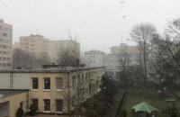 Śnieg mocno pada w Gdyni, a w kalendarzu wiosna
