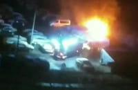 Pożar na parkingu przy Powstania Listopadowego na Morenie