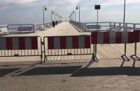 Zamknięte molo w Gdyni
