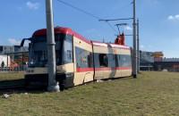 Wykolejenie tramwaju na pętli Łostowicka