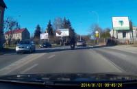 Zderzenie motocykla z autem na Jabłoniowej