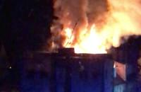 Płonie dach budynku w Gedanii