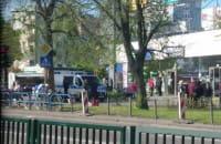 Policja na rynku na Przymorzu