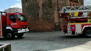 Na Stągiewnej, wozy strażackie.