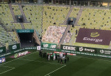 Lechia Gdańsk - radość po wygranej w derbach 4:3