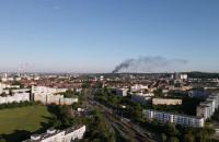 Pożar w Kolonii Jordana, widać dym