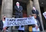 Mieszkańcy SM Ujeścisko protestowali przed prokuraturą