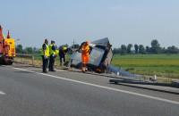 Ciężarówka w rowie na S7 w kierunku Elbląga