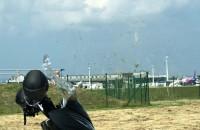 Trąba powietrzna przy lotnisku w Rębiechowie