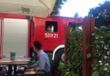 Wóz strażacki jechał na Monciaku