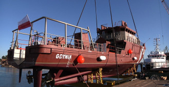 Niecodzienne wodowanie statku SAR