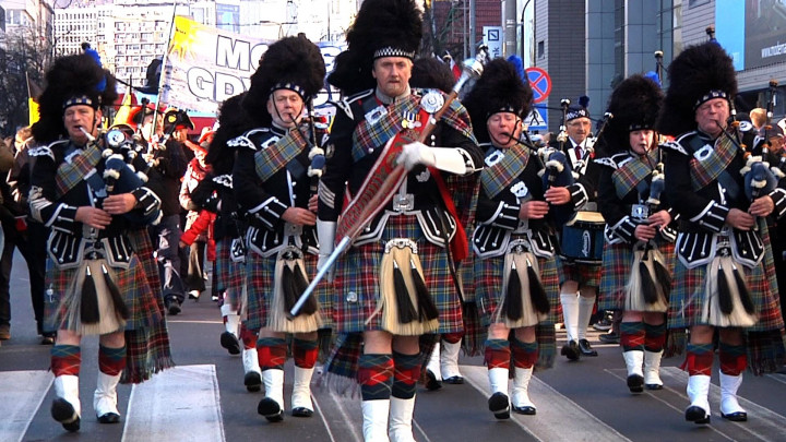 W zeszłym roku 11 listopada przez Gdynię maszerowali m.in. Szkoci.