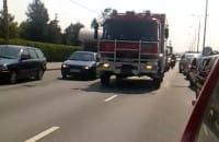 Przejazd wozów strażackich w Trójmieście
