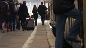 Zdezorientowani pasażerowie SKM
