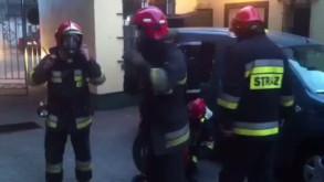 Pożar w Środmieściu Gdyni