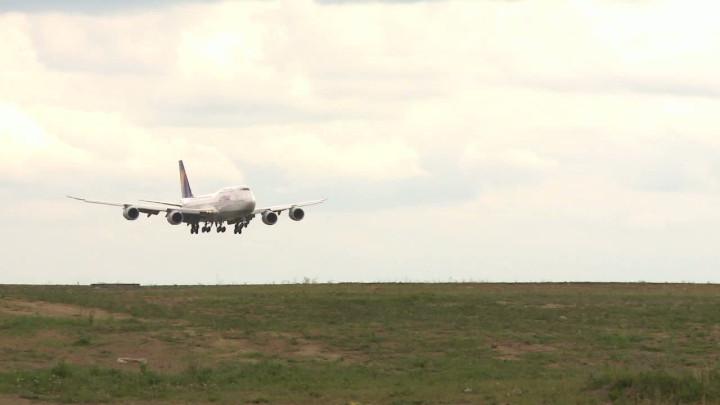 Na pokładzie tego jumbo jeta do Gdańska przyleciała reprezentacja Niemiec.