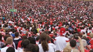 Mecz Polska-Grecja w gdańskiej strefie kibica