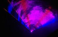 Deszcz laserów w Strefie Kibica