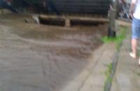 """""""Wodospad w chodniku"""" przed tunelem na Żabiance"""