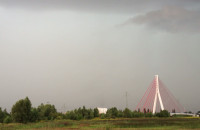 Wał szkwałowy nad Gdańskiem