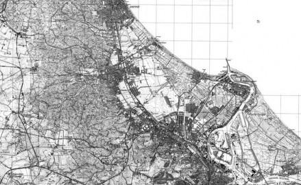 Historyczna mapa Trójmiasta